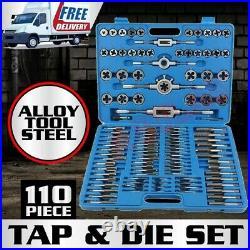 110PCS Tap and Die Combination Set Tungsten Steel Titanium METRIC Engineer Tools