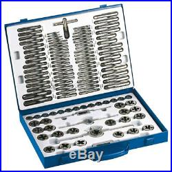 110 Pc Tungsten Steel Tap And Die Set Metric Wrench Cuts Bolts M2-m18 Fervi M218