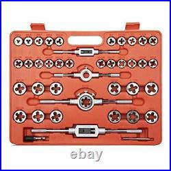 110 Piece Metric Bearing Steel Tap and Die Set with Carrying Case