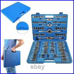 110pc Tap and Die Combination Set Tungsten Steel Titanium and Metric Tools