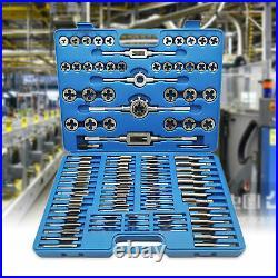 110pcs/Set Tap and Die Combination Set Tungsten Steel Titanium SAE Metric Tools