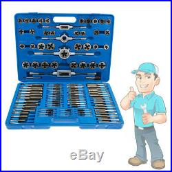 110pcs Tungsten Wrench Tap and Die Set Cutter Kit Metric Steel Screw Bolt