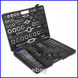 115 Piece Combination Tap And Die Set Screw Extractor Remover Chasing withCase