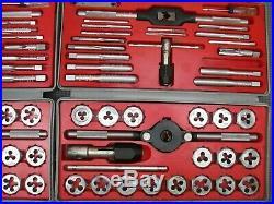 (2) Vintage Craftsman Kromedge METRIC & SAE Tap & Hexagon Die Sets 52095 & 5201