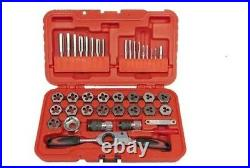 34Pc. Metric Tap & Die with Gear Ratchet Wrench T & E Tools TD40BM
