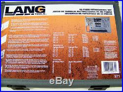 48pc Rethreading Set by Lang Tool made in USA Free Case when tap and die won't