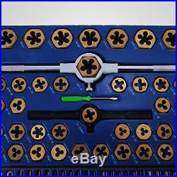 86PC Tap And Die Combination Set Tungsten Steel Titanium SAE METRIC Tools HQ