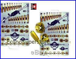 90 Pc Sae & MM Metric Titanium Tungsten Tap Die Titanium Bit Set