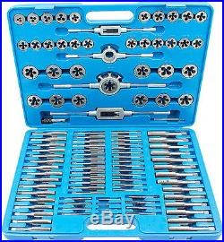 BGS Germany 110-pc Quality Tungsten Steel Metric Thread Tap and Die Set M2-M18