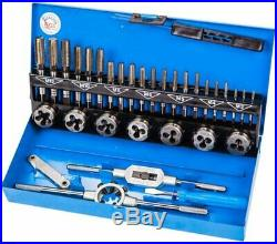 BGS Germany 32-pieces Trade Metric M3-M12 Tap and Die Set HSS G Steel Metal Case