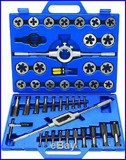 BGS Germany 45-pieces Large Size Metric 6mm-24mm Tap and Die Set Tungsten Steel