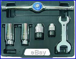 BGS Germany 6-pcs Ratchet Ratcheting Tap and Die Holder Metric M2-M8 M6-M12 Set
