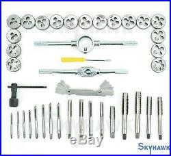 BLUE CASE 40 Pc Metri Tap & Die Set Bolt Screw Extractor/Puller Kit Removal