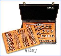 Beta Tools 446/C110 Taps Dies Metric Thread Wooden Case 110 Pcs