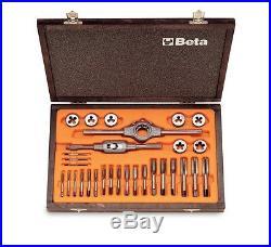 Beta Tools 446/C30 Taps Dies Metric Thread Wooden Case 30 Pcs