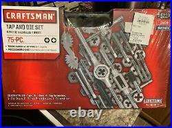 Brand New-Craftsman 75 Piece SAE + Metric Combination Tap & Die Carbon Steel Set