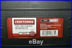 Craftsman 75-Piece Combination Tap & Die Set Carbon Steel Metric Standard Tools