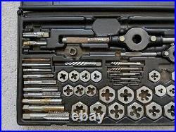 Craftsman Kromedge #9-52151 Mechanics 59 Piece Tap & Die Set Used incomplete