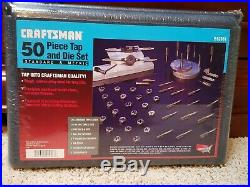 Craftsman Tools USA 50pc Tap and Die Set SAE/Metric 952381 Made in USA