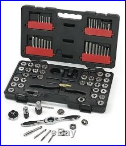 GearWrench 3887 75-Piece Combination SAE/Metric Ratcheting Tap and Die Drive Set