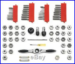 GearWrench 3887 Tap and Die Set SAE & Metric 75 Pc