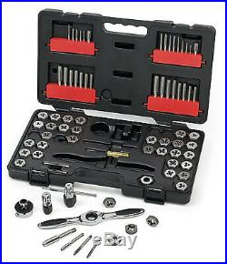 GearWrench 75 Piece Ratcheting Tap and Die Drive Tool Set SAE & Metric 3887