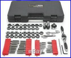 GearWrench SAE Metric Ratcheting Tap Die Set Hand Tool Silver (75-Piece)