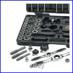 GearWrench SAE Metric Ratcheting Tap and Die Set 117 Piece Tool Storage Case Kit
