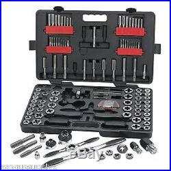 Gearwrench 114 Piece Large SAE and Metric Ratcheting Tap and Die Set KDT82812