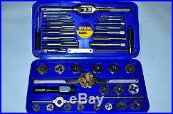 Hanson Machine Screw / Fractional / Metric Tap & Hex Die Set Irwin 26319 US MADE