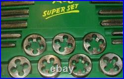 Hanson Metric Super Set Tap and Die & ACE SUPER Set 614 Tap and Die Piece USA