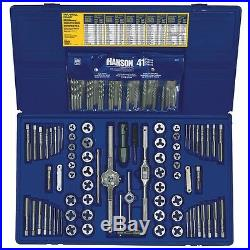 Irwin Hanson 26377 117 Pc Fractional/Metric Tap & Die, plus Drill Bit Deluxe Set