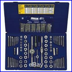 Irwin Hanson 26377 117 pc Machine Screw, SAE, Metric Tap Hex Die & Drill Bit set