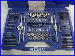 Irwin Hanson Tap & Die 76 pc Machine Screw / SAE / Metric 26376
