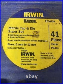Irwin Metric Tap Die Set 2p14720