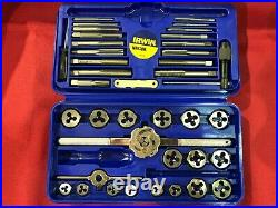Irwin P/n 26317 Metric Tap & Die Super Set 41 Piece Made In USA