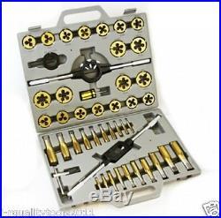 Large MM Titanium Metric Tap And Die Threading Tool Set