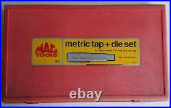 MAC TOOLS LARGE 25 PIECE METRIC TAP & DIE SET WITH CASE 9311TSP 14mm 24mm