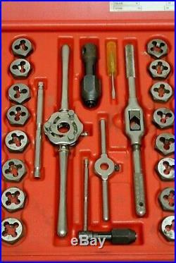 MATCO TOOLS 76 pc. Tap & Die Threading Set Model # 676TD Metric & Fractional