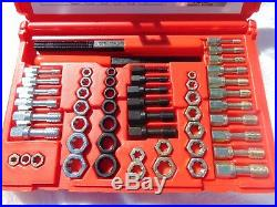 METRIC AND U. S. CHASER RETHREADING TAP & DIE SET COARSE & FINE MADE IN USA 53pc