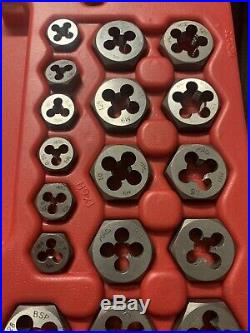 Mac Tools 117pc Tap+Die+Extractor+Drill Bits Set, US+Metric, Complete, Mint Cond