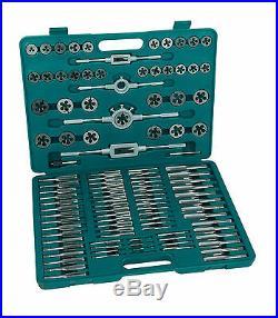 Mannesmann Tap And Die Set 110 Pcs. Metric Thread Cutting Tool Premium Set GS TUV