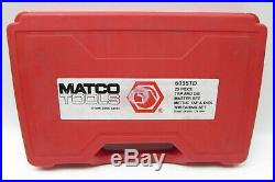 Matco Tools 6095TD 25 Piece Metric Large Tap And Die Master Set