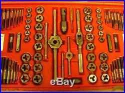 Matco Tools 76-Piece Machine Screw Fractional & Metric Tap & Die Set 676TD
