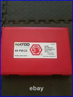 Matco tools 40 piece metric tap and die set 3mm. 5 to 12mm-1.75