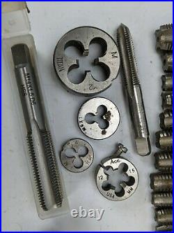 Metric Hand Tap Lot M18 to M4 Titan Blue Point thread die HS bottoming taper