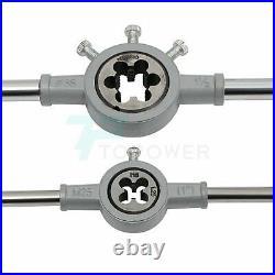 Metric Tap And Die Set 110PC M2-18 With Case Vintage Adjustable Machinist Tools