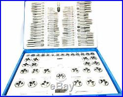 Metric Tap Die Set Professional 110 Pc Alloy Steel Tap Wrench New TZ TP096