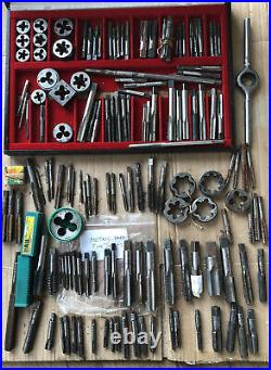 Metric and Imperial Taps and Dies Massive Job Lot -Vintage -Engineers inc NOS