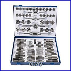 Muzerdo 110PCS Standard Sae and Metric Bearing Steel Tap and Die Rethreading Kit